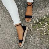 Женщины бархат Плоский каблук с пряжка обувь (087211428)