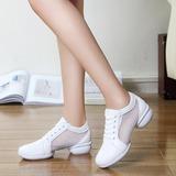 Женщины кожа сетка Танцевальные кроссовки Современный Танцевальные кроссовки Практика Обувь для танцев (053201967)