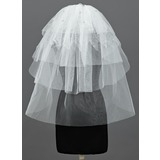Five-tier Elbow Bridal Veils With Cut Edge (006034185)