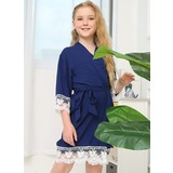 Lace Flower Girl Blank Robes Lace Robes (248178698)
