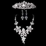 Flor em forma Liga/Cristal Mulheres Conjuntos de jóias (011028526)