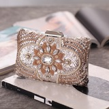 Delicate Crystal/ Rhinestone Clutches/Luxury Clutches (012199360)