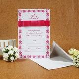 Estilo Clássico Cartão liso Wrap Invitation Cards com Fitas (Conjunto de 50) (114030739)