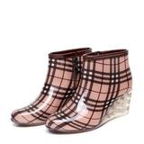 Donna PVC Zeppe Stivali Stivali altezza media Stivali da pioggia con Altrui scarpe (088127035)