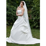 Four-tier Scalloped Edge Chapel Bridal Veils (006026637)