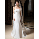 One-tier Lace Applique Edge Cathedral Bridal Veils With Embroidery/Beading/Sequin (006035831)
