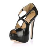 Vrouwen Kunstleer Stiletto Heel Sandalen Plateau Peep Toe schoenen (085017469)