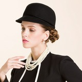 Ladies' Simple/Eye-catching/Pretty Wool Bowler/Cloche Hat (196183040)