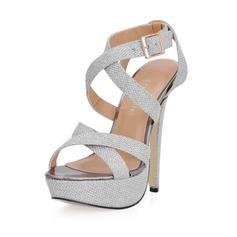 Kunstleer Stiletto Heel Sandalen Plateau Slingbacks met Gesp schoenen (087017930)