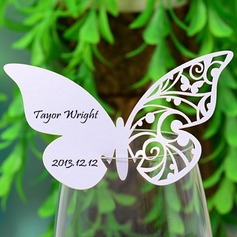 Sommerfugl udformning Perle-papir Bordkort (sæt af 12) (131037411)