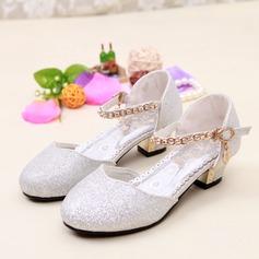 Girl's Closed Toe sprankelende glitter low Heel Pumps Bloemenmeisje schoenen met Gesp Sprankelende Glitter (207150953)