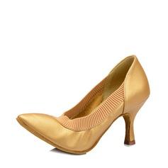 De mujer Piel Tacones Sala de Baile Zapatos de danza (053115117)