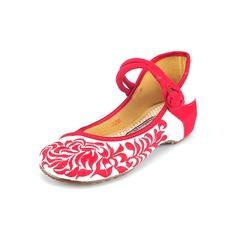 Naisten Kankaalla Muut Matalakorkoiset Suljettu toe jossa Button kengät (086094916)