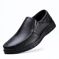 Мужская натуральня кожа U-Tip вскользь Men's Loafers (260187165)