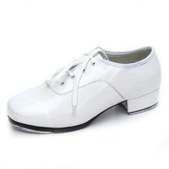 Femmes Cuir verni Talons Claquettes avec Dentelle Chaussures de danse (053041996)