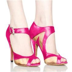 Женщины Атлас Сандалии Латино Обувь для танцев (053095145)