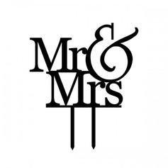 Mr & Mrs Acryl Huwelijk Taarttoppers/Vrijgezellenfeest Taarttoppers (119063256)