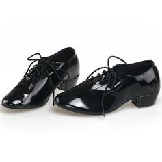 Мужская кожа На каблуках Танцевальные кроссовки Практика с Шнуровка Обувь для танцев (053104911)