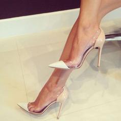 Женщины Замша Высокий тонкий каблук На каблуках Закрытый мыс с Соединение врасщеп обувь (085124941)