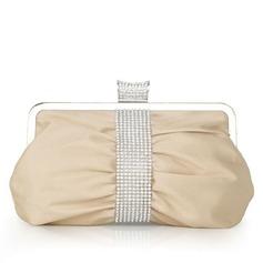 Элегантный шелк с Стразы Клатчи (012027450)