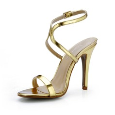 Lackleder Stöckel Absatz Sandalen Absatzschuhe Schuhe (087047295)