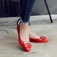 Женщины PU Плоский каблук На плокой подошве Закрытый мыс с бантом обувь (086142466)