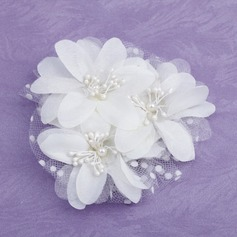 Дети великолепный Перлы ложный/Атлас/Тюль Цветы и перья (042026381)
