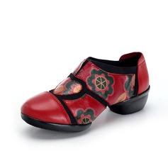 Женщины Натуральня кожа Танцевальные кроссовки Танцевальные кроссовки Обувь для танцев (053093948)