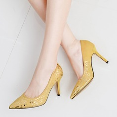 Женщины Высокий тонкий каблук На каблуках с Аппликация обувь (085113776)