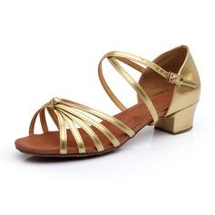 De mujer Niños Piel brillante Tacones Planos Danza latina con Del bowknot Zapatos de danza (053024972)