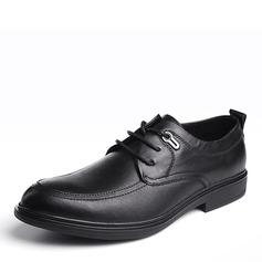 Мужская натуральня кожа шнуровка U-Tip Платья Men's Oxfords (259183131)