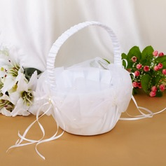 Beautiful Flower Basket With Ribbons/Faux Pearl (102039775)