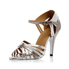 Women's Leatherette Heels Sandals Latin With Buckle Dance Shoes (053054501)