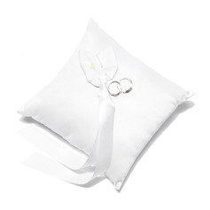 Lovely Ring Pillow in Satin With Calla Lily (103037453)