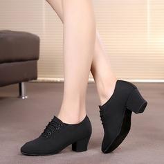 Женщины Холст На каблуках На каблуках Практика Обувь для танцев (053085941)