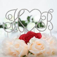 Monograma/Coração Cromado Casamento Decorações de bolos (119030827)