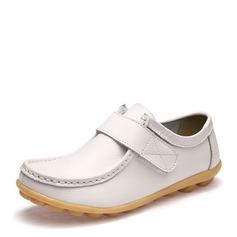 Женщины PU Плоский каблук На плокой подошве Закрытый мыс с На липучке обувь (086149307)