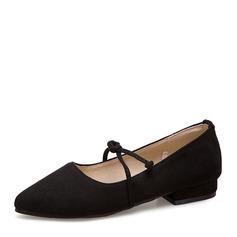 Женщины Замша Плоский каблук На плокой подошве Закрытый мыс с Шнуровка обувь (086153773)