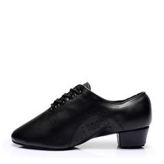 Mulheres Couro Saltos Treino Sapatos de dança (053143461)