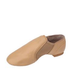 Женщины Натуральня кожа На плокой подошве Джаз Обувь для танцев (053121376)