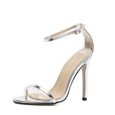 Mulheres Couro Salto agulha Peep toe Sandálias Beach Wedding Shoes (047123626)