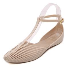 Kvinner PVC Flate sko Lukket Tå sko (086165219)