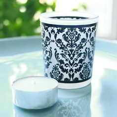 """""""Damask Traditions"""" Frosted Glass Tea Light Holder (Sold in a single piece) (051146451)"""