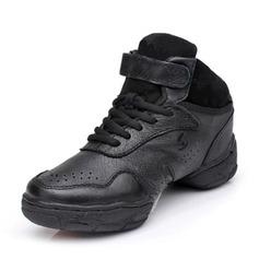 Женщины Натуральня кожа Танцевальные кроссовки Танцевальные кроссовки Обувь для танцев (053048835)