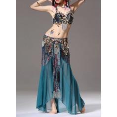 Kvinner Danseklær Bomull Polyester Chiffong Magedans Drakter (115086461)