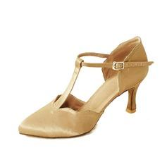 Женщины Атлас На каблуках На каблуках Бальные танцы с Т-ремешок Обувь для танцев (053060968)