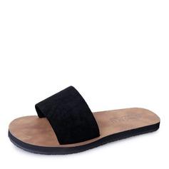 Женщины Замша Плоский каблук Сандалии На плокой подошве Открытый мыс Босоножки Тапочки обувь (087164430)