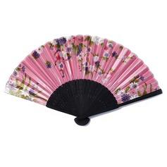 Diseño Floral Bambú/Seda Ventilador de la mano (051046551)