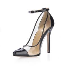 Kunstleder Stöckel Absatz Absatzschuhe Geschlossene Zehe mit Schnalle Schuhe (085016999)