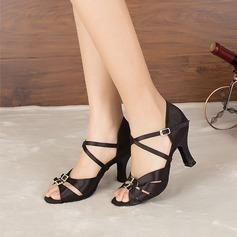 Женщины кожа На каблуках Латино Обувь для танцев (053114202)